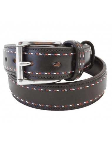 British Spirit Hand-Stitched Leather Belt
